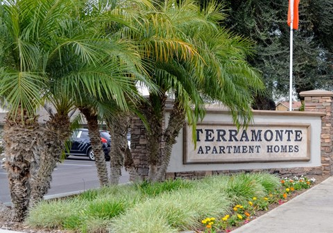 Entrance with Architectural Details at Terramonte Apartment Homes, Pomona, CA