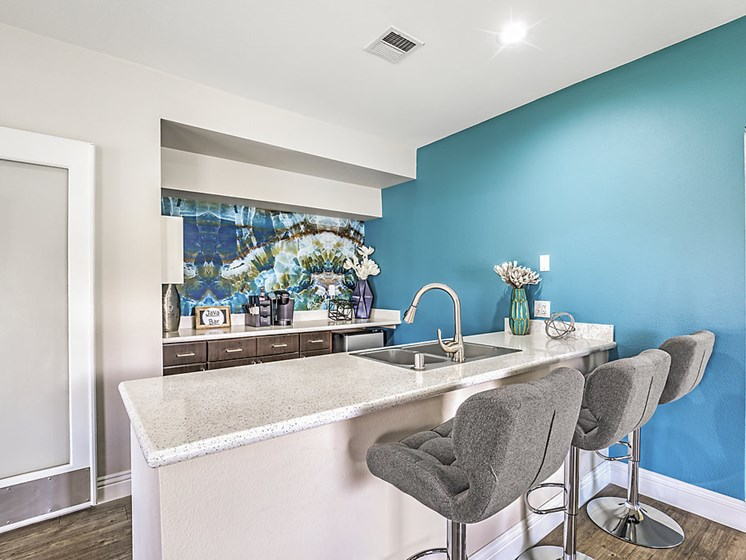 kitchen area in clubhouse