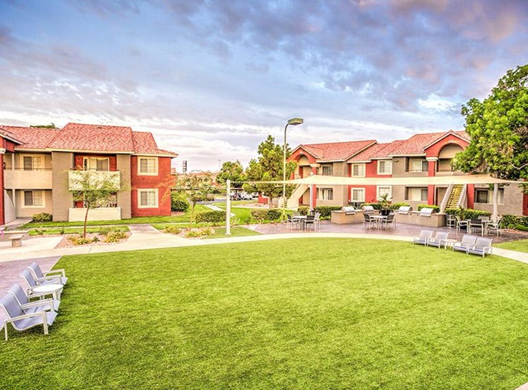 Beautiful Landscaping and Park-like Setting at St. Lucia Apartments, Las Vegas, NV,89128