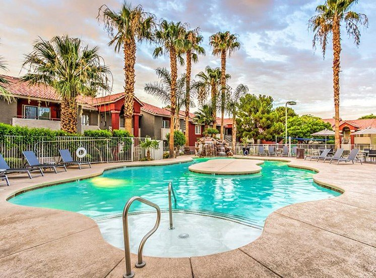 Sparkling Swimming Pool at St. Lucia Apartments, Las Vegas, NV,89128
