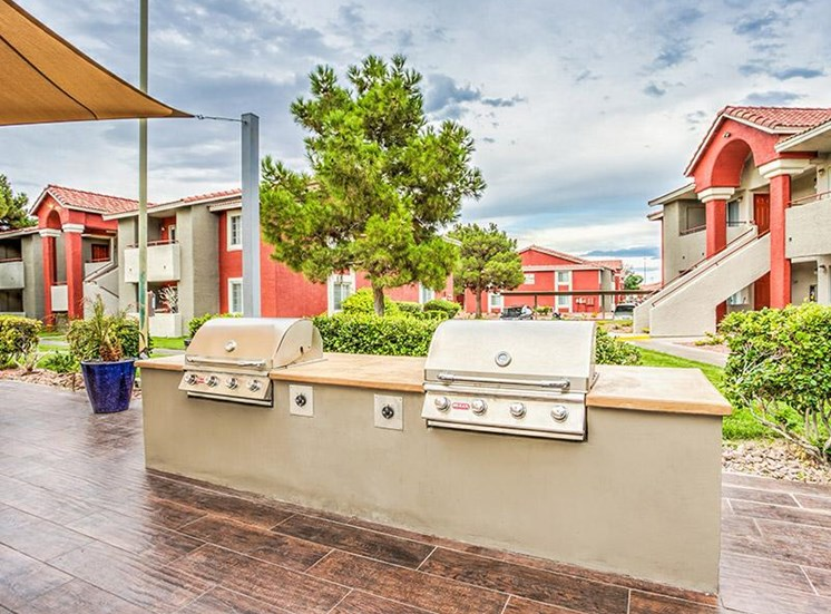 BBQ Cook space at St. Lucia Apartments, Las Vegas, NV,89128
