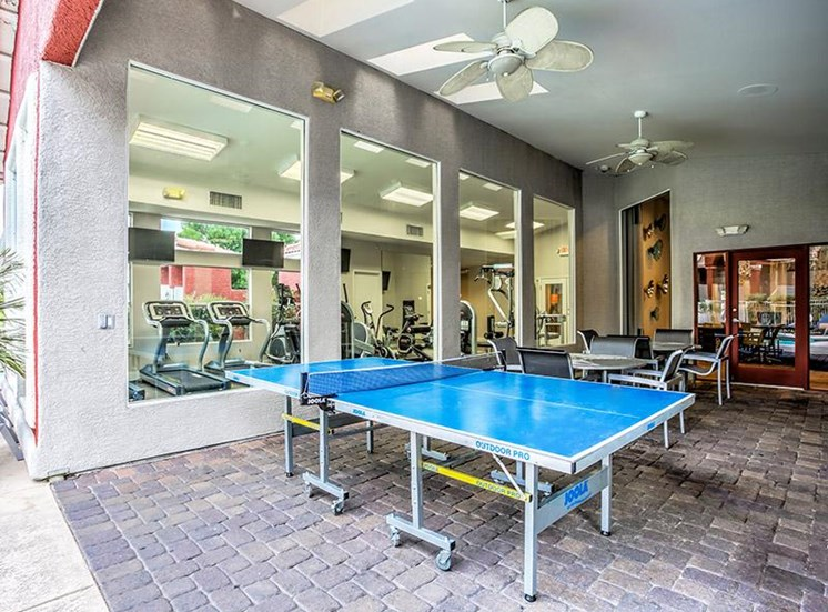 Table Tennis area at St. Lucia Apartments, Las Vegas, NV,89128