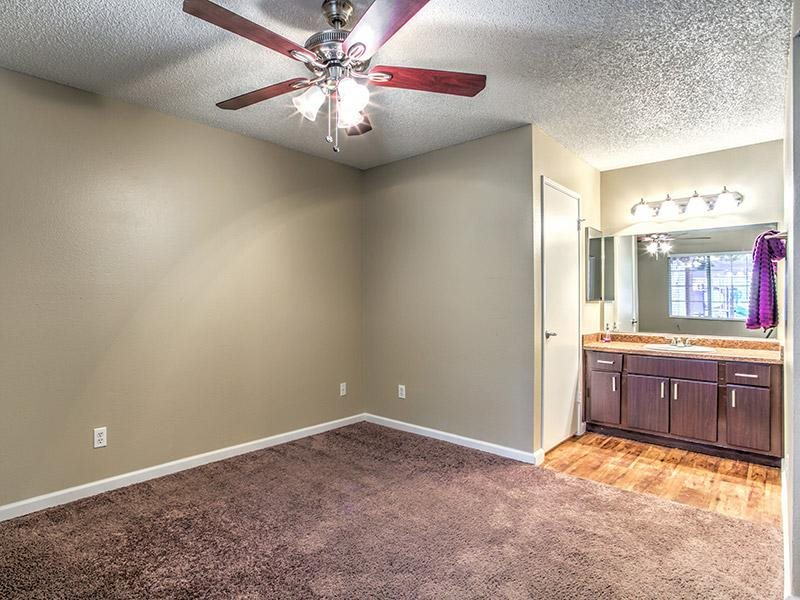 Spacious Bedrooms with Ceiling Fan at St. Lucia Apartments, Las Vegas, NV,89128