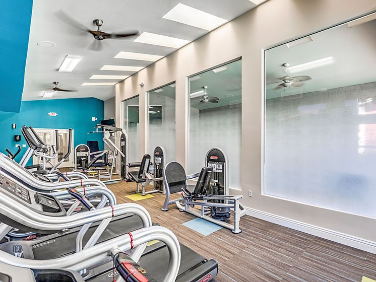 Las Vegas Nevada Apartments - St. Lucia Fitness Center With Weight Machines and Cardio Equipment