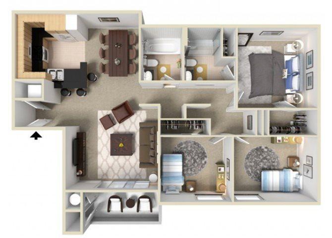 Outrigger floor plan.