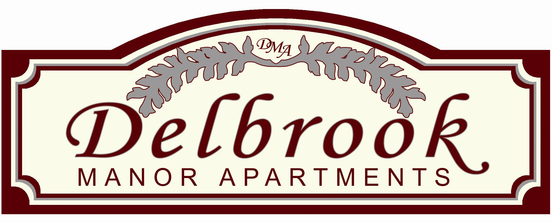 Delbrook Manor Apartments Logo in Mechanicsburg, PA | Delbrook Manor Apartments | Property Management, Inc.