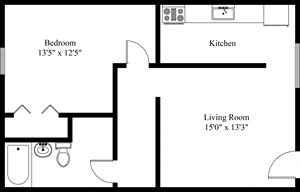 Liberty Lg 1 Bedroom