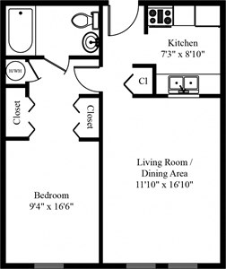 1 Bed 1 Bath Apt in Three Springs