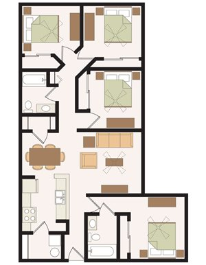Madelyn Oaks Apartments Floor Plan