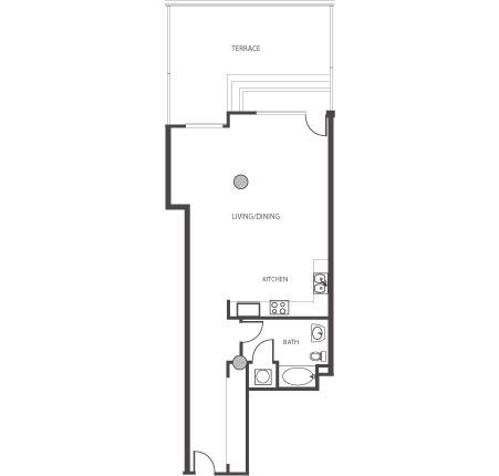1 Bed 1 Bath at The Lofts at Mockingbird Station Apartments in Dallas