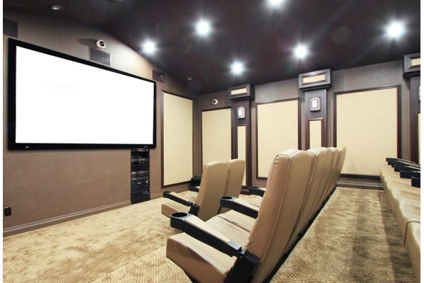 20-seat movie theater on the premise at Parkview Terrace, Redlands, CA,92373