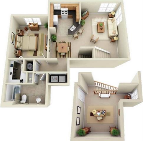 Luxury One Two Three Bedroom Apartment Homes with Spacious