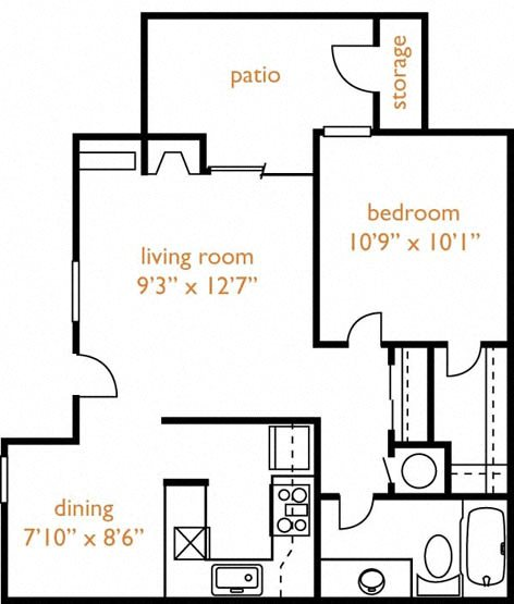 One And Two Bedroom Floor Plans For Rent In Fair Oaks, CA