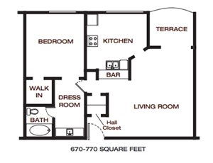 The Summit at Point Loma_San Diego_CA_Floor Plan_One Bedroom One Bathroom