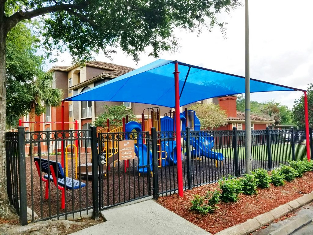 Covered and Gated Playground