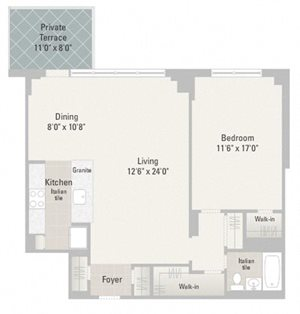 One Bedroom Plans Unit B