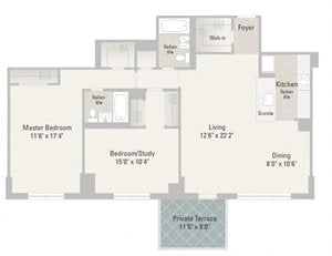 Two Bedroom Plans Unit F