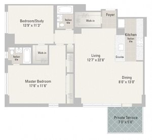 Two Bedroom Plans Unit G