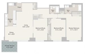 Three Bedroom Plans Unit D