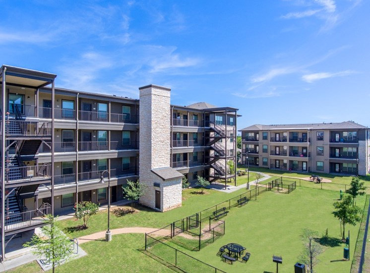 aerial north austin apartments