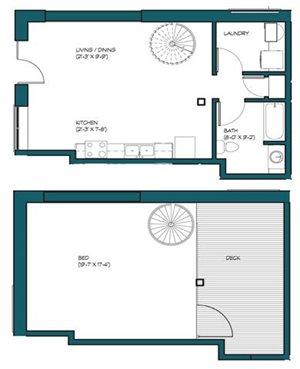 1 Bedroom Loft M.2