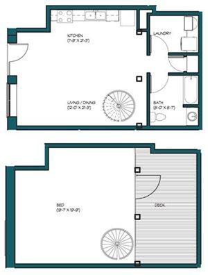 1 Bedroom Loft M.4