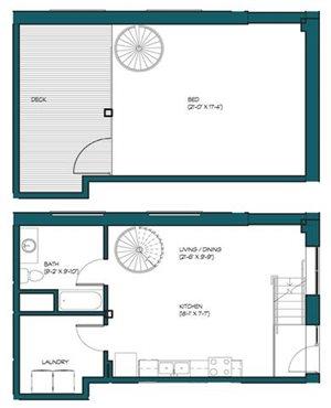 1 Bedroom Loft M