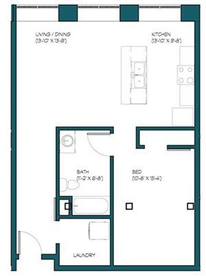 1 Bedroom B.3