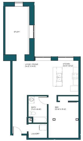 1 Bedroom + Study B.5