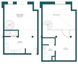 1 Bedroom Loft N