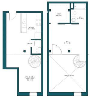 1 Bedroom Loft O.1