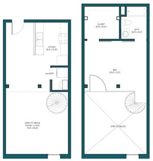 1 Bedroom Loft O