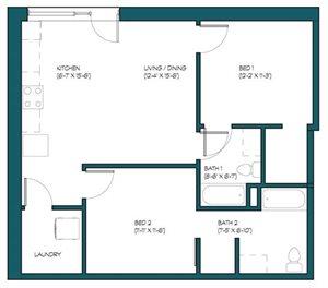 2 Bedroom L.1
