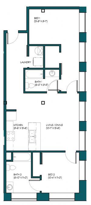 2 Bedroom E.1