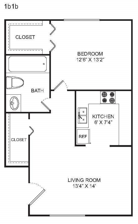 1 BED Floor Plan 1