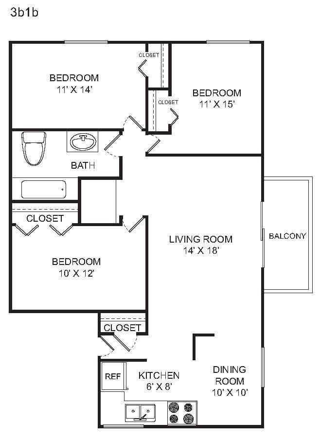 3 BED Floor Plan 4