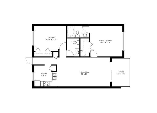 2B2B STANDARD Floor Plan 3