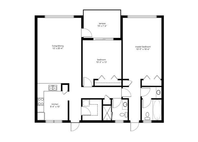 2B2B DELUXE Floor Plan 4