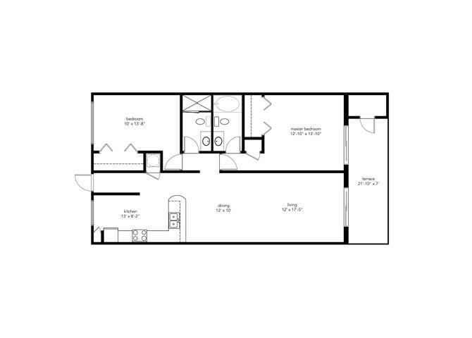 2b2b Floor Plan 1