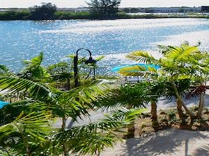 The Crystal Riviyera's pool and sun deck.