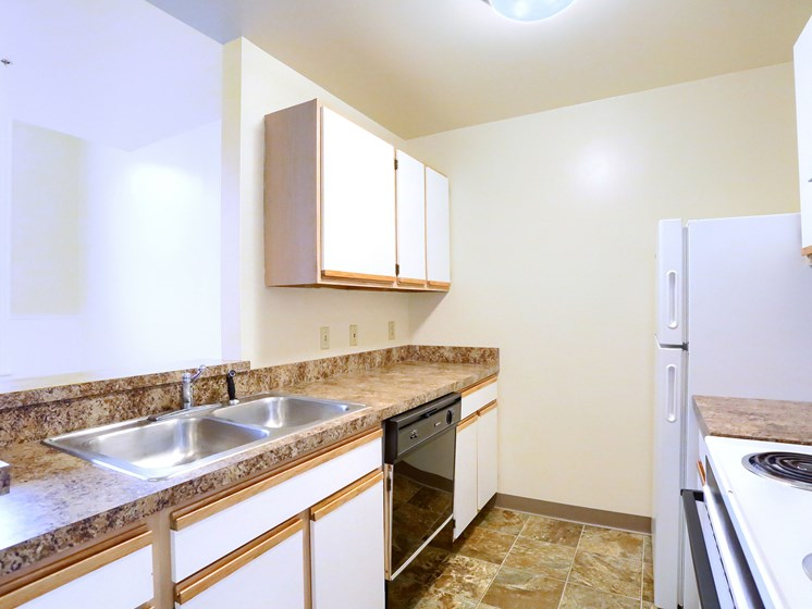 Apartment Kitchen at The Weightman Apartments in Williamsport