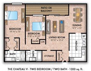 Two Bedroom Two Bath Den