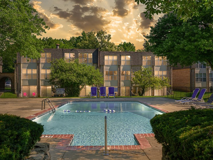 Shimmering Swimming Pool at Carriage Hill Apartment Homes, Ohio, 45013
