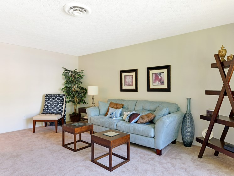 Neutral Carpet Color at Carriage Hill Apartment Homes, Hamilton, OH