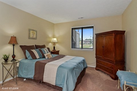 Comfortable Bedroom With Large Closet, at Suncrest Apartment Homes, Indianapolis, IN