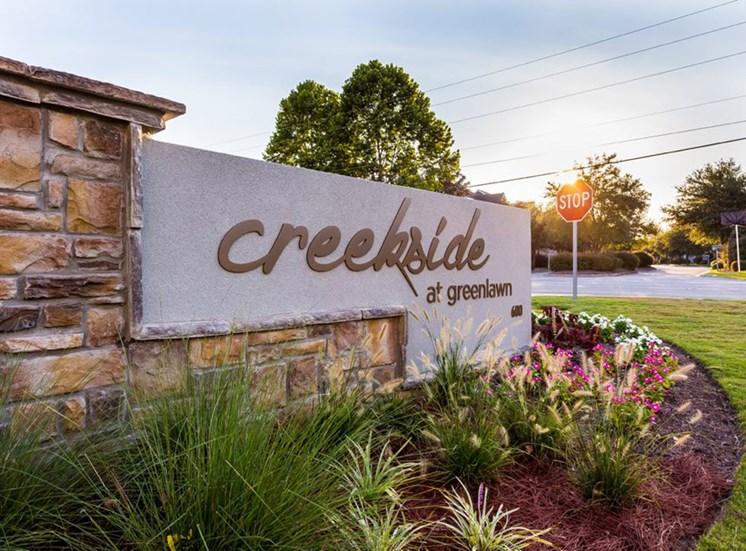 Grand Entrance Sign at Creekside at Greenlawn in Columbia SC 29209
