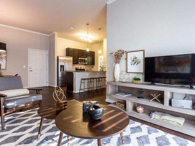 Modern Living Room Interiors at Creekside at Greenlawn Apartments