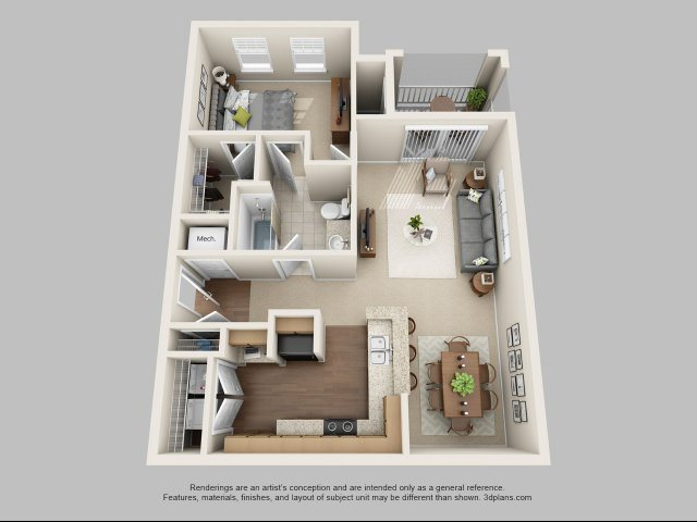A1  - The Piper Floor Plan 1
