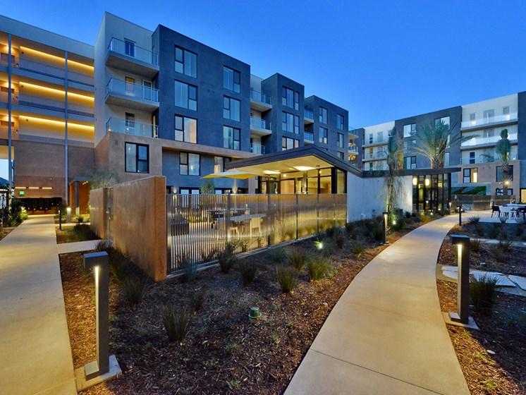 Well lit Community Spaces at Block C, California