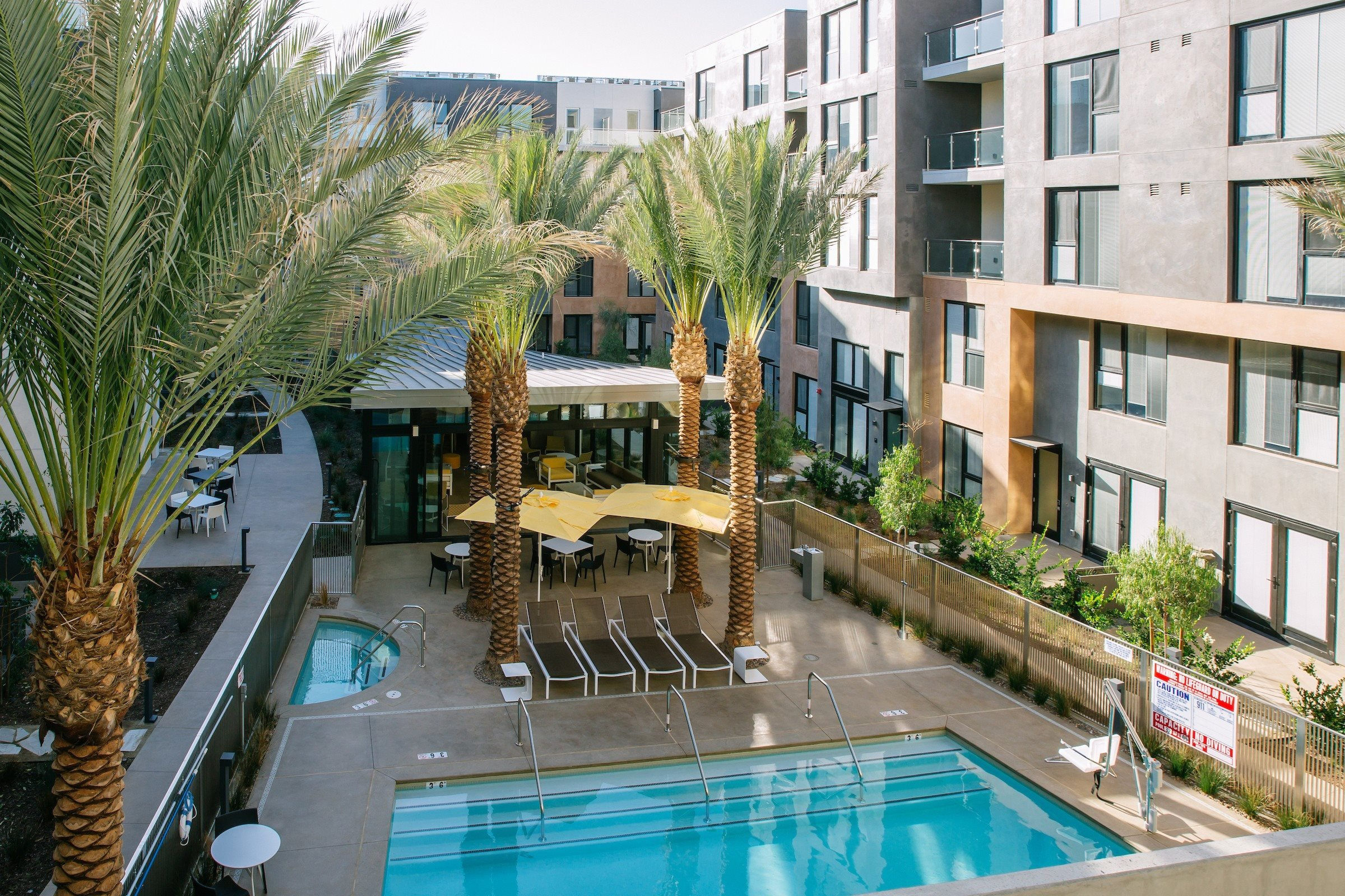 Outdoor Pool Area at Block C, San Marcos, CA,92078